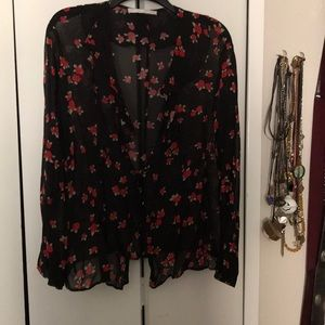 Tops - Sheer Rose Blouse